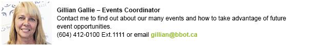 Gillian events contact